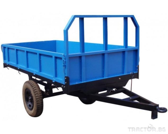 Ремаркета и цистерни Ремарке за трактор прикачно AGRIDEA 1500 кг. със спирачки 0 - Трактор БГ